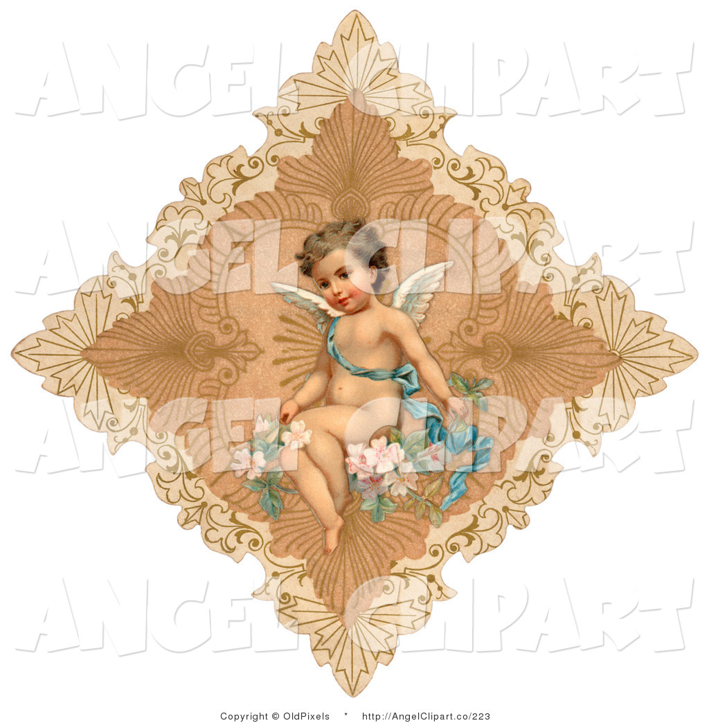 Cupid clipart antique Of Flowers Stock Ribbon a