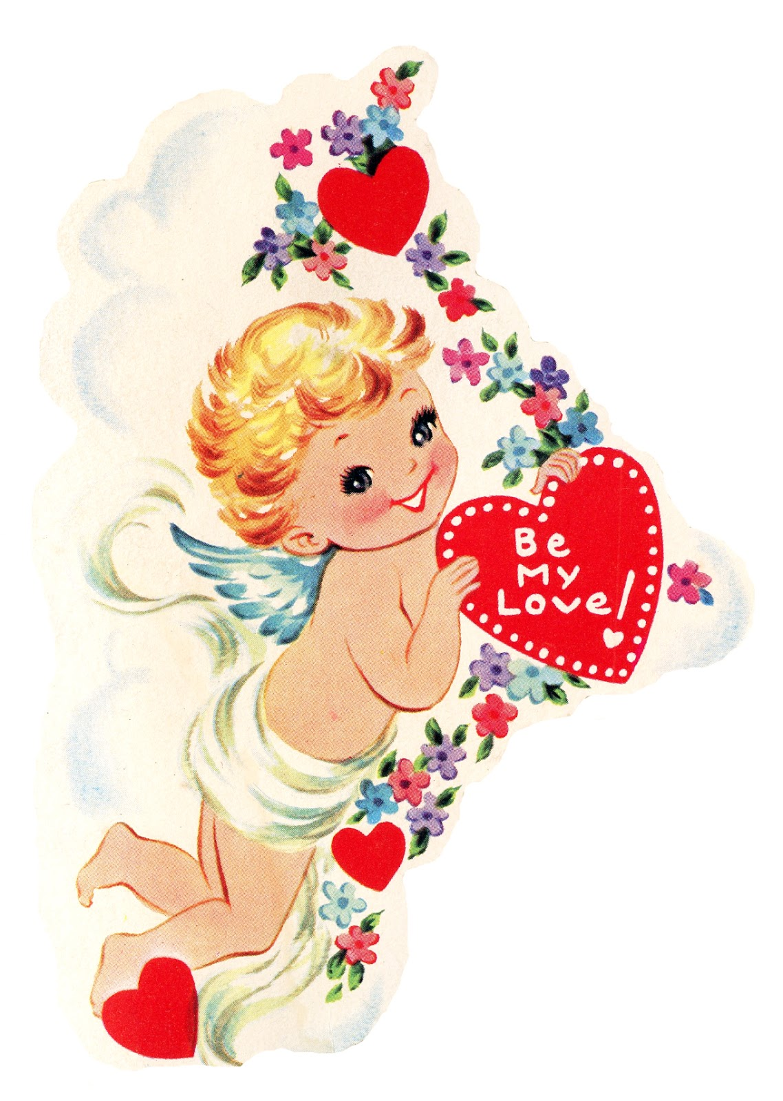 Cupid clipart antique Heart Cupid Heart with Cupid