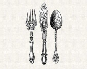 Cutlery clipart silverware Cutlery cutlery Etsy ClipArt Knife
