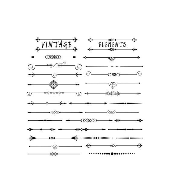 Victorian clipart divider On Web Pinterest elements Lebondesign