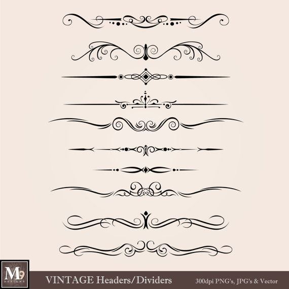 Victorian clipart divider Art~Dividers on 42 & Printables