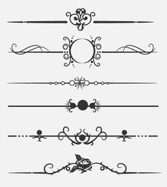 Victorian clipart divider As Vintage Gray Download Page