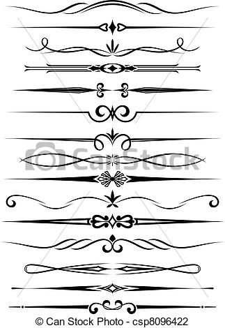 Victorian clipart divider  Cliparts Download single Clip