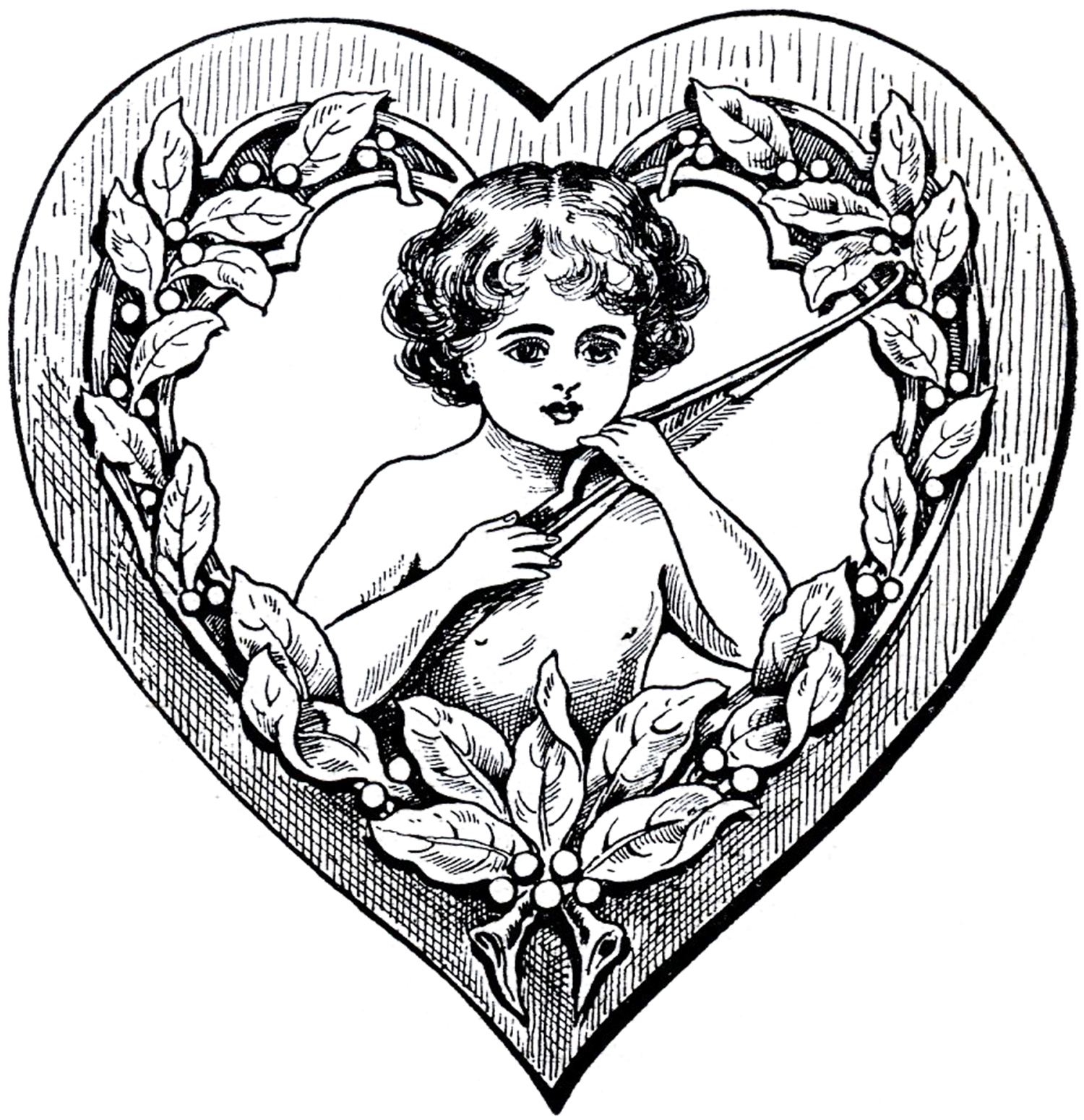 Cupid clipart antique Graphics Heart Fairy Art Clip