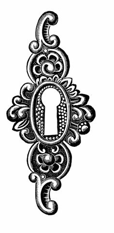 Alice In Wonderland clipart keyhole Antique antique wonderland  keyhole