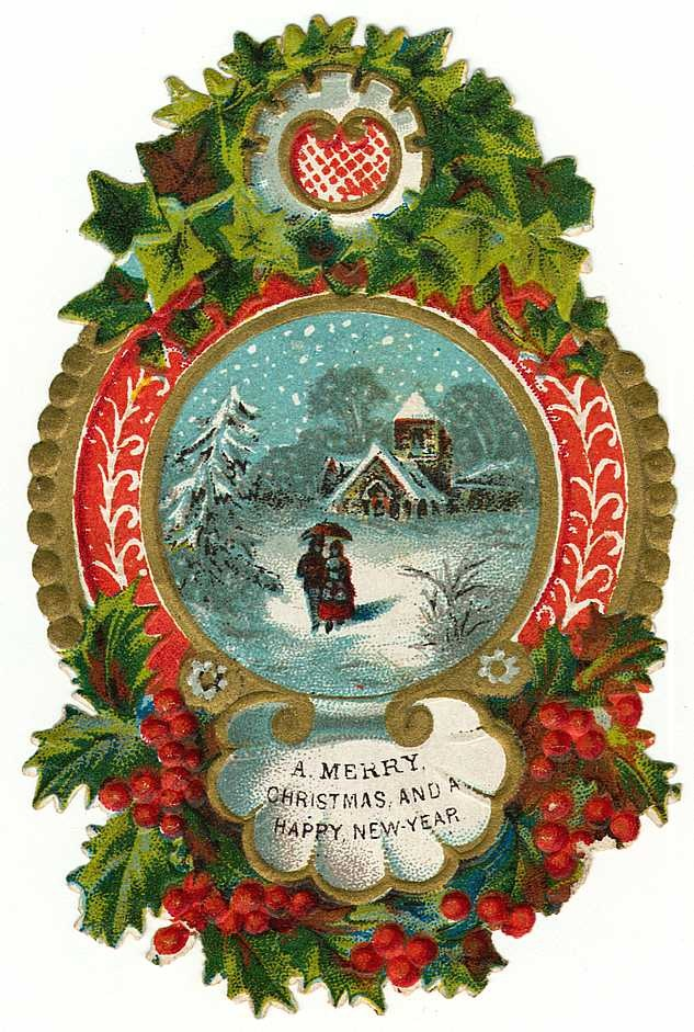 Wreath clipart victorian christmas Free Holiday Art Vintage from