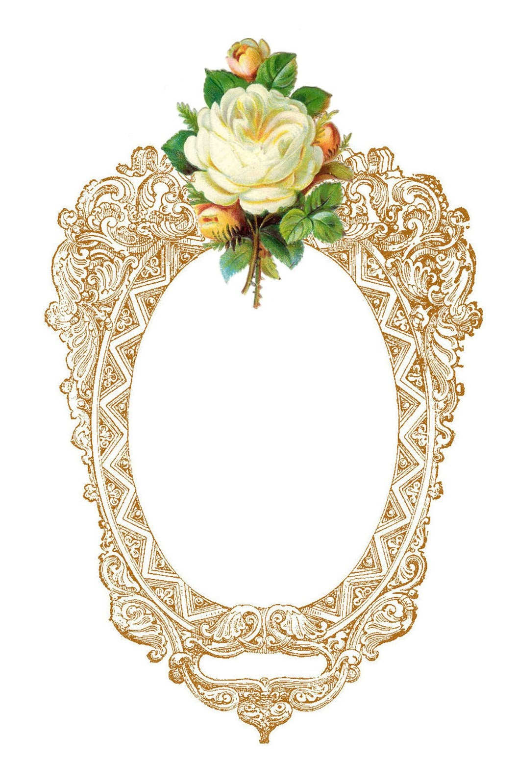 White Rose clipart graphic Images: Clip Art: Antique with