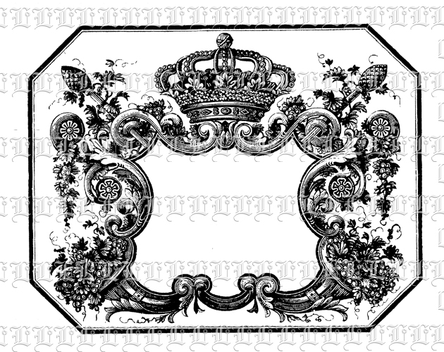 Victorian clipart rococo Vintage Crown Image Crown With