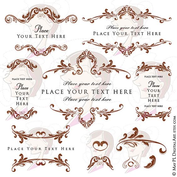 Victorian clipart rococo Indie catalog Brown ideas Decoration