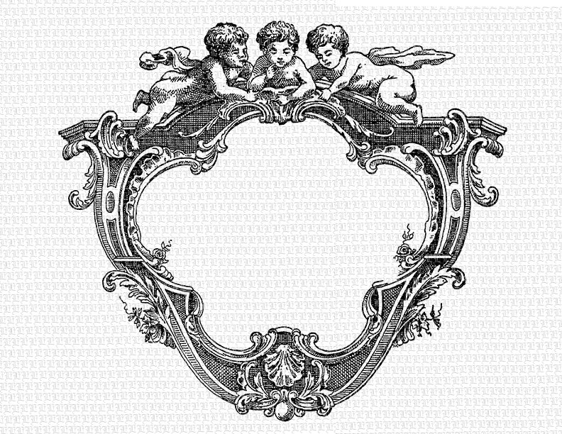 Victorian clipart rococo Cherubs Instant Printable High to