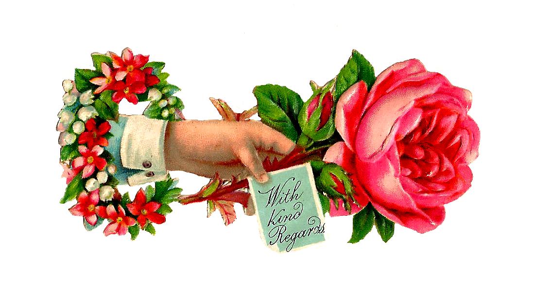 Vintage Flower clipart vintage love Clip Images: 2013 Art March