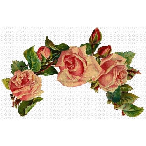 Vintage Flower clipart pink rose Superb Garland Pink Victorian Art