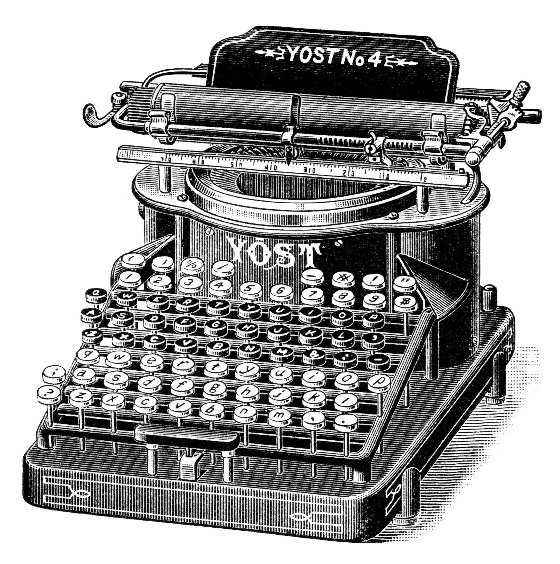 Typewriter clipart old school 1 clipart teachers study Free
