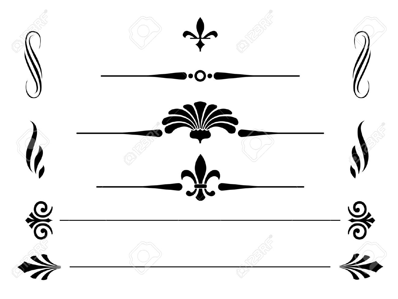 Victorian clipart symbol Borders And Vintage Style Vectors