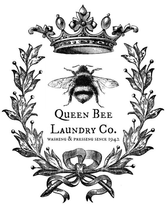 Victorian clipart symbol Best Millie BEE Month Vintage