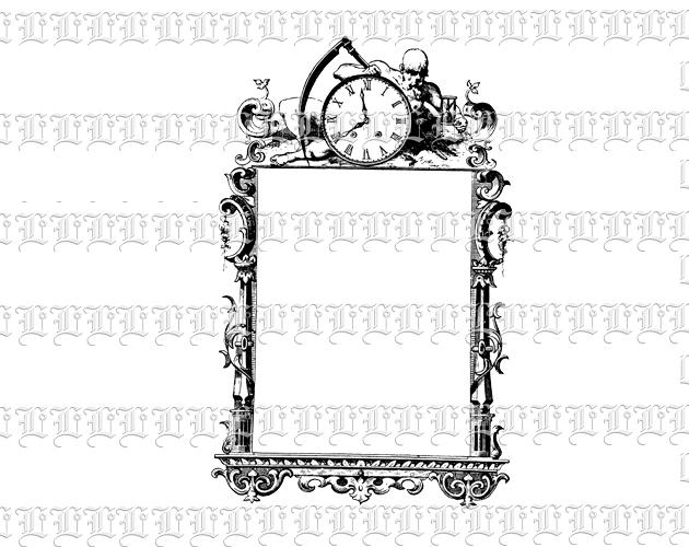 Victorian clipart symbol Frame Frame Victorian Art Death