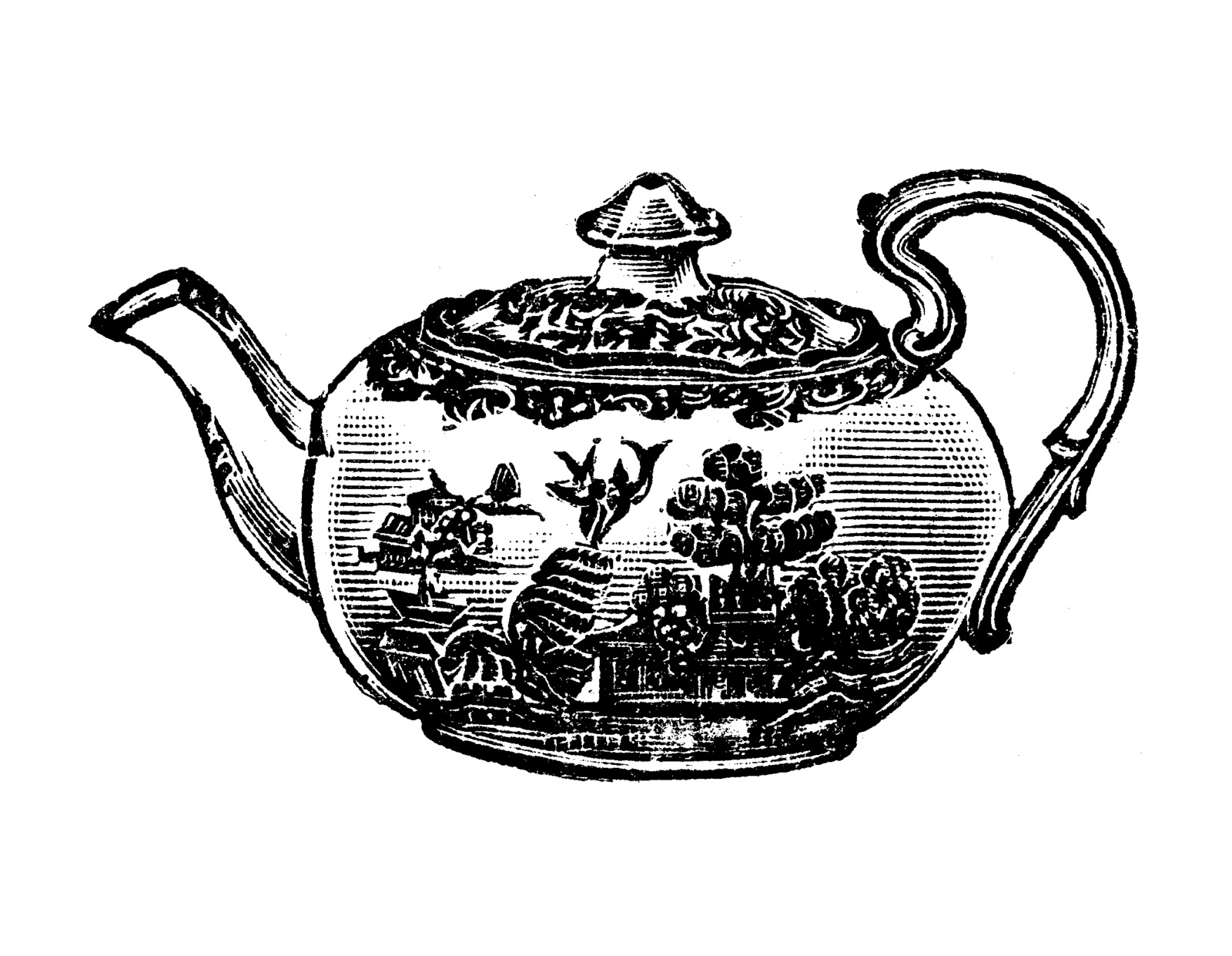 Tea Party clipart vintage food #1