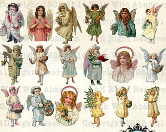 Angel clipart victorian angel #11