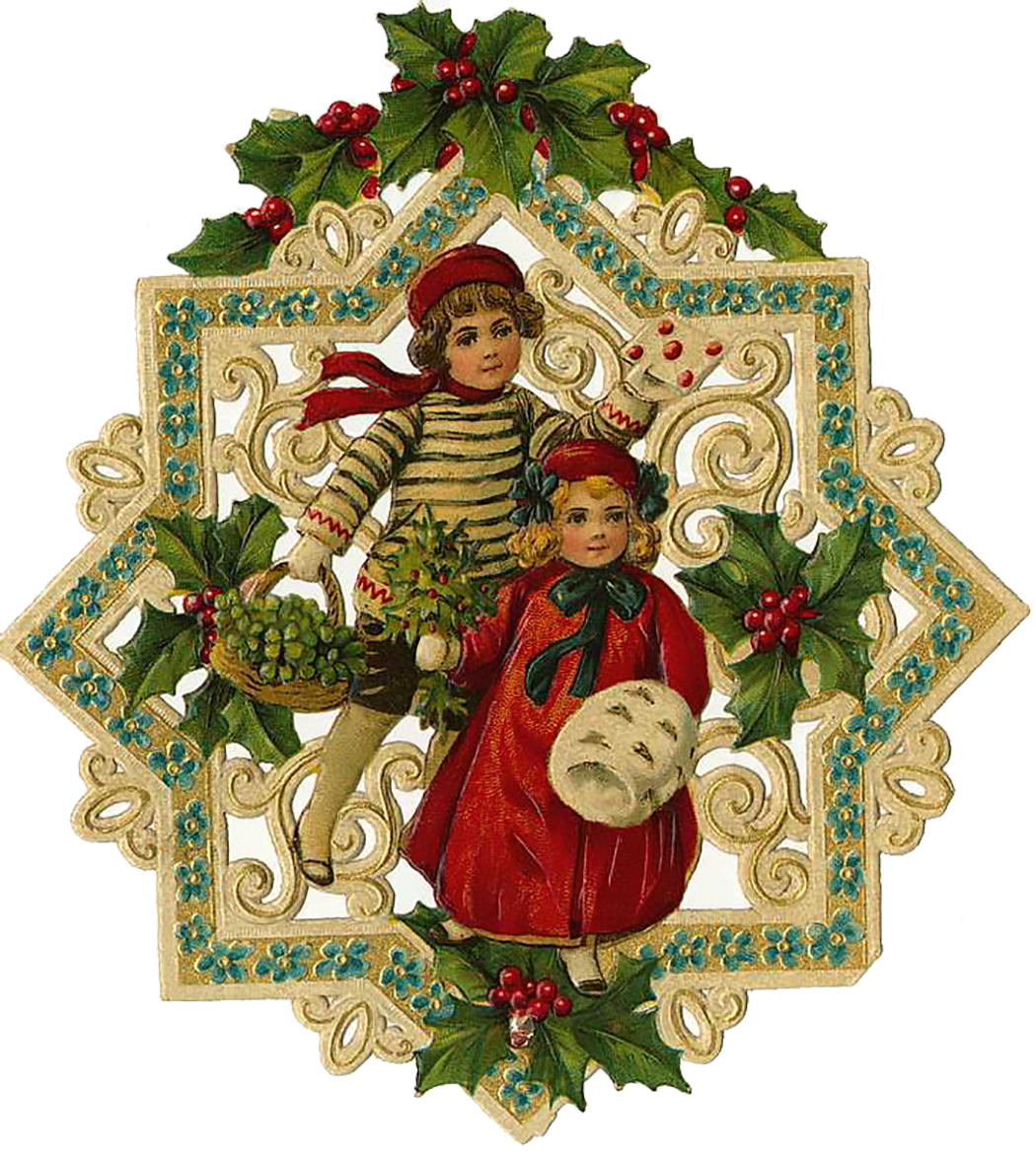 Pine Tree clipart victorian christmas – Images Happy Clip Christmas