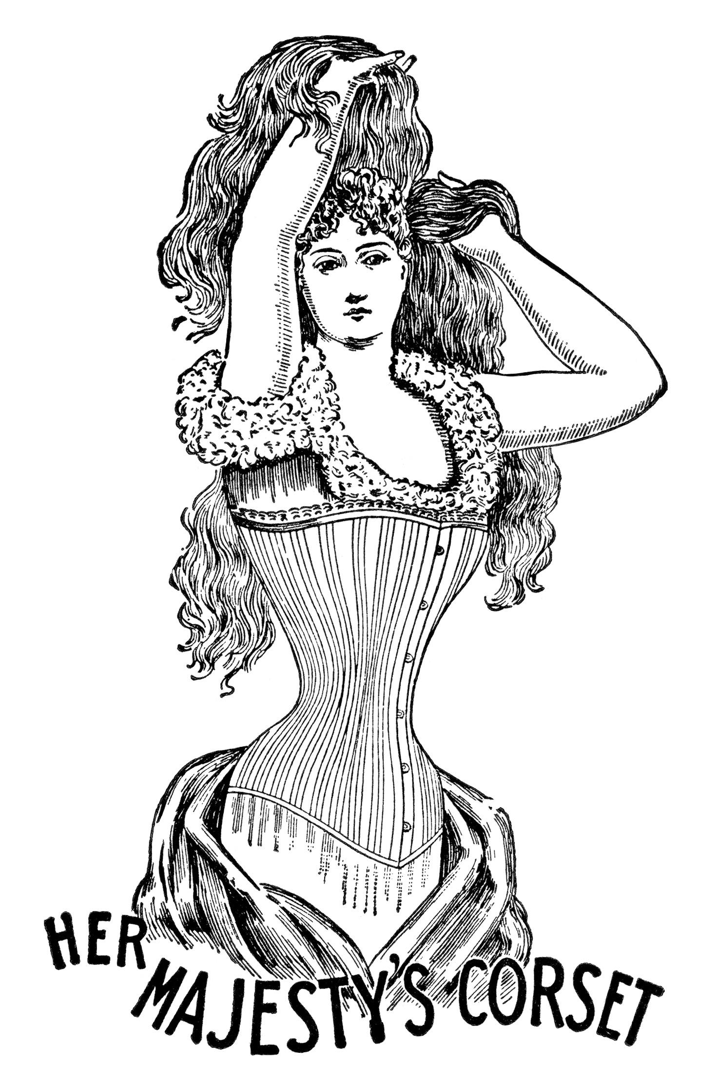 Victorian clipart victorian era Vintage corset her clip art