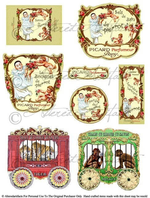 Carriage clipart circus Vintage and Digital Vintage Collage