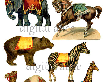 Carneval clipart circus animal Digital Carnival ANIMALS Camel Circus