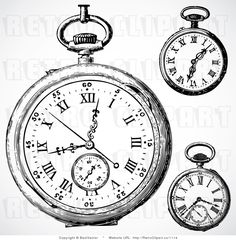 Watch clipart old fashioned Vintage Vintage Vintage Vintage Clocks