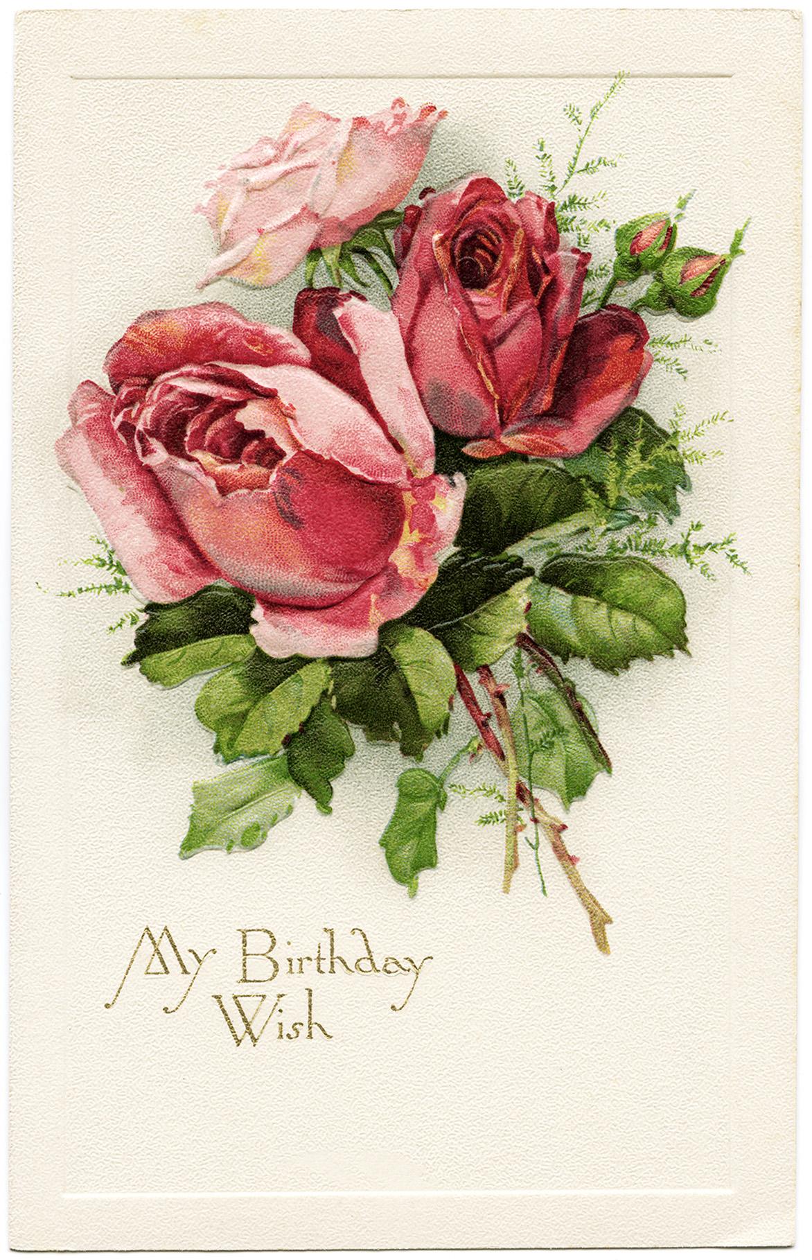 Vintage Flower clipart vintage birthday #2