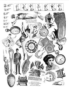 Victorian clipart vintage recipe Crafts whimsies Child with spreading