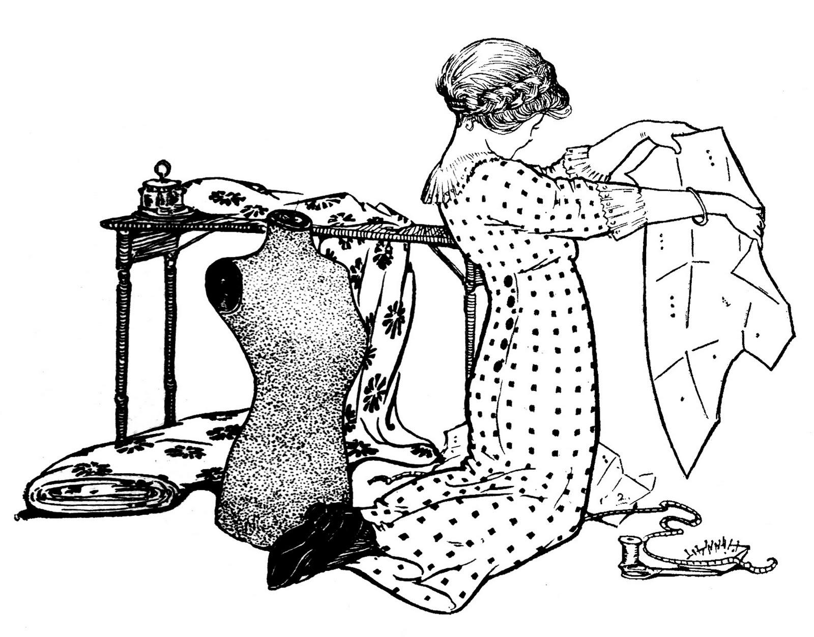 White Dress clipart printable Etc Pattern Art Sewing Dress