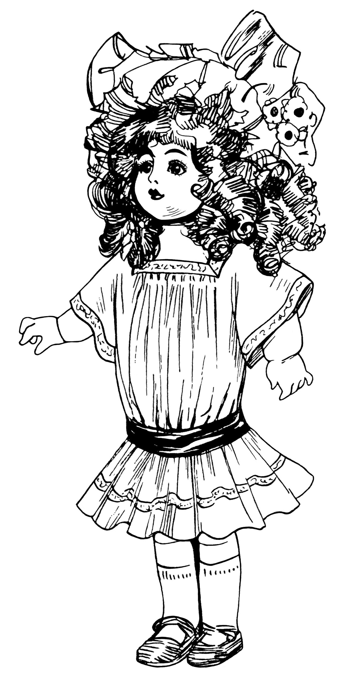 Victorian clipart vintage toy Clip Doll Pinterest of Free