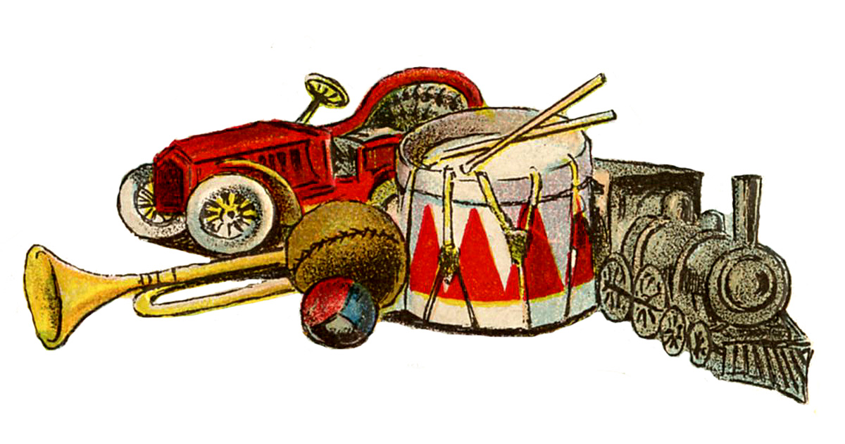 Victorian clipart vintage toy Artist Day Toys Artist Fairy