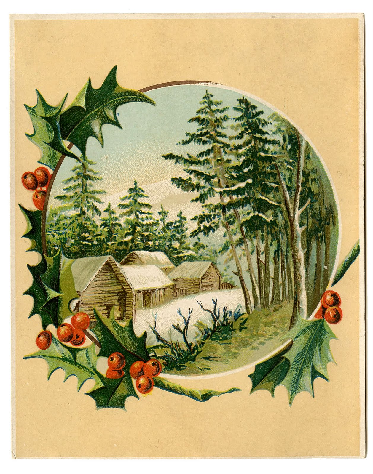 Holley clipart old fashioned Holly Christmas Christmas Winter +