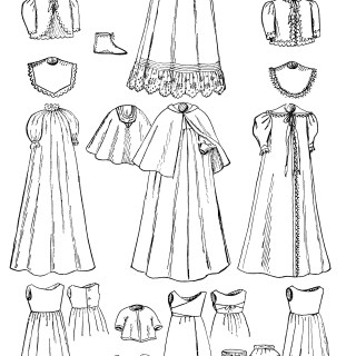 Victorian clipart wardrobe Clip Free And Black Infant's