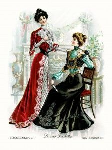 Victorian clipart wardrobe Dress resource image fashion Victorian