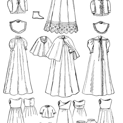 Victorian clipart wardrobe White and art infants graphics