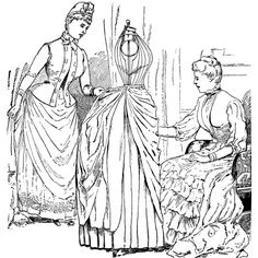 Victorian clipart wardrobe White magazine form sewing vintage