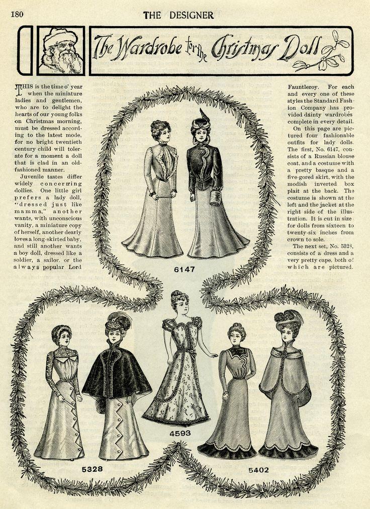 Victorian clipart wardrobe × Image Scaled pixels) OldDesignShop_WardrobeChristmasDolls1