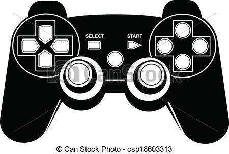 Controller clipart gamepad A isolated Game csp18603313 pad