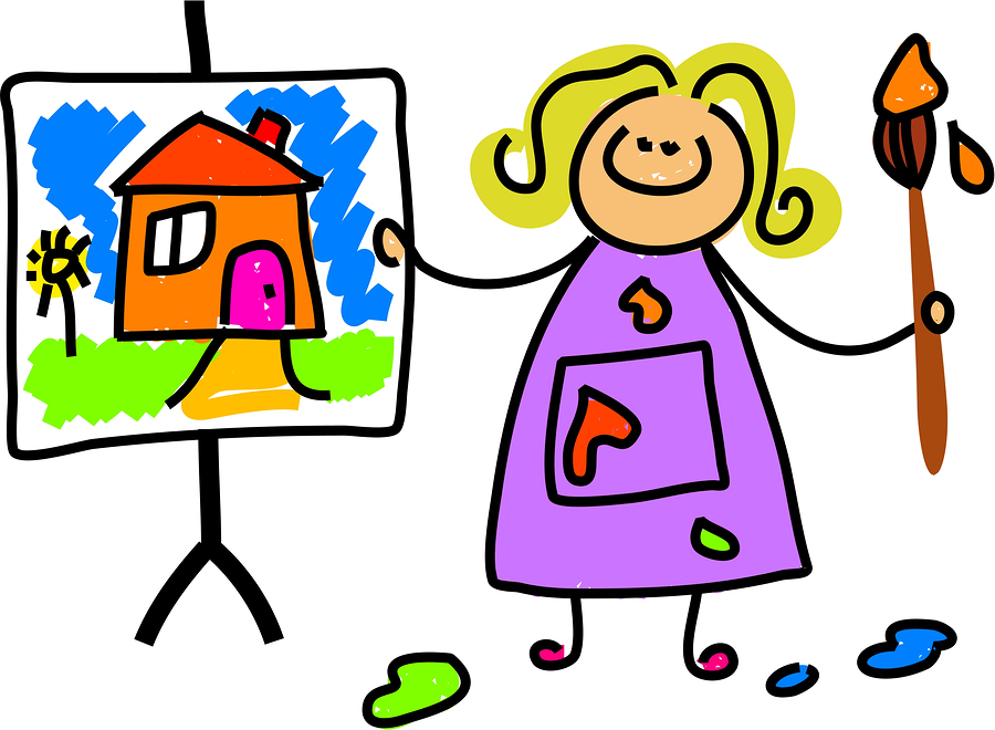Creative clipart child painting Cartoon Computer Clip Colorcolor Games