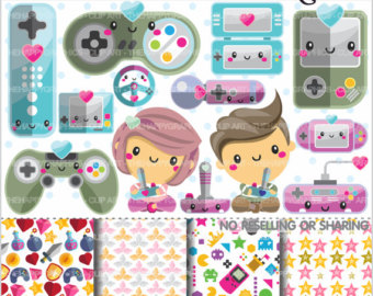 Video Game clipart viedo Etsy Clipart Technology Planner Gaming