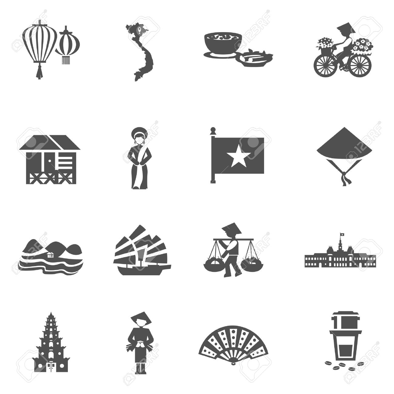 Vietnam clipart black and white 760 with of Illustrations and