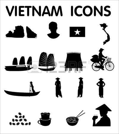 Vietnam clipart black and white Vietnamese white Vector and 542