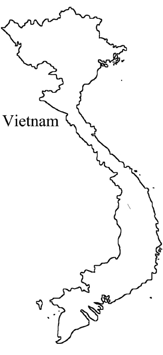 Vietnam clipart black and white Map Maps Geography Outline Blank