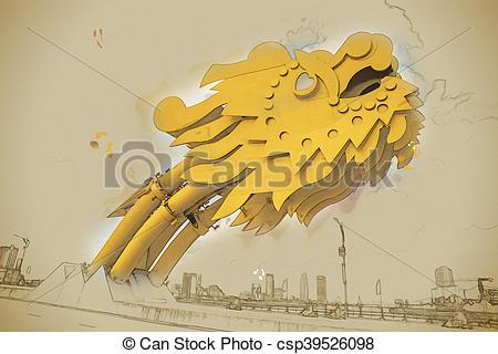 Vietnam clipart head Bridge of csp39526098 Dragon Da