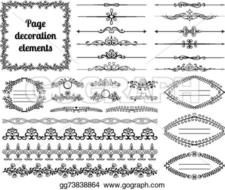 Vignette clipart calligraphy Vector Clipart dividers design for