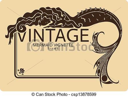 Vignette clipart vintage #3