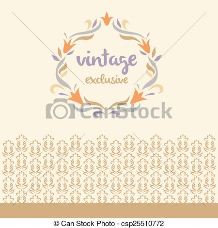 Vignette clipart vintage logo #6