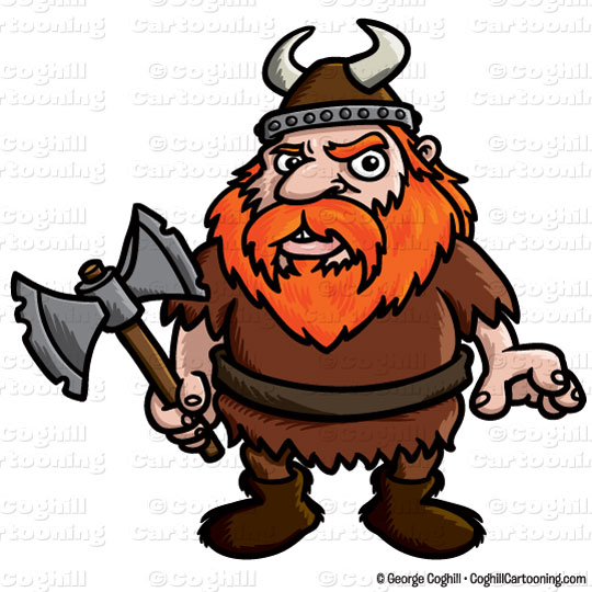 Viking clipart Clip Stock cartoon illustration Cartoon