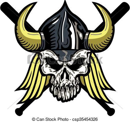 Viking clipart baseball Vikings baseball Vector of Vector